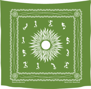 BeachLabs.org Grass Bandana with Salt Detail