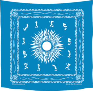 BeachLabs.org Ocean Bandana with Salt Detail