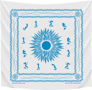 BeachLabs.org Salt Bandana with Ocean Detail