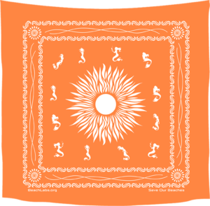 BeachLabs.org Sun Bandana with Salt Detail